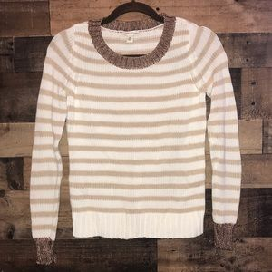 BANANA REPUBLIC | Cream + bronze sweater